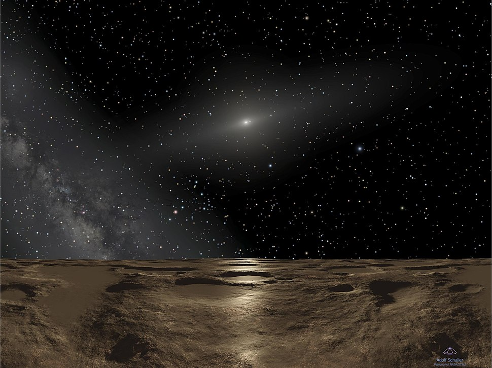 Artist%27s concept of the Solar System as viewed from Sedna