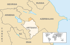 Armenia–Serbia relations - Image: Artsakh Current en