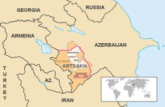 Political status of Nagorno-Karabakh - Image: Artsakh Current en