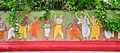 Artwork at the wall of Samadhi Mandir of Srila Prabhupada 07102013.jpg