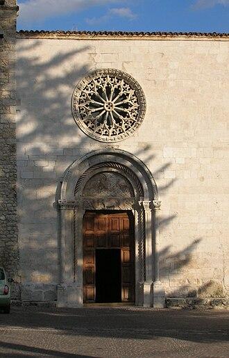 Assergi - Facade of the church of Santa Maria Assunta