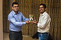 Aswiki2019- A participant being felicitated by others during the workshop 04.jpg