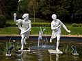 Atalanta and Hippomenes in pond at Quex House Birchington Kent England.jpg