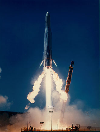 Atlas E/F - Launch of Atlas E/F X4 with a U.S. Navy payload