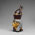 Attachment in the form of the head of a goddess wearing the double crown MET DP139127.jpg