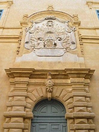 Temple of Proserpina - Image: Auberge d'Italia, Valletta