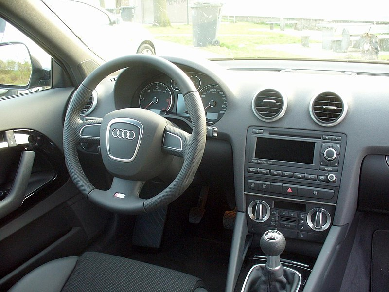file audi a3 8p ambition s line 2 0 tdi lavagrau facelift interieur jpg wikimedia commons. Black Bedroom Furniture Sets. Home Design Ideas