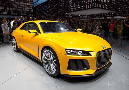 World premiere of Audi Sport quattro concept at IAA 2013 in Frankfurt, Germany