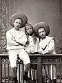 Augusta Viktoria with her twin siblings Franz Josef and Friedrich.jpg