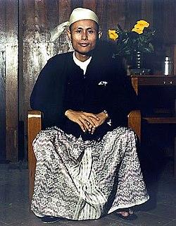 Aung San Burmese revolutionary leader