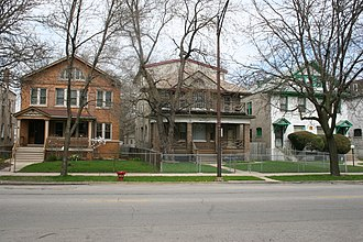 Austin Historic District (Chicago, Illinois) - Houses along the 5700 block of West Lake Street