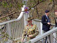Australian military attache on Gloster Bridge