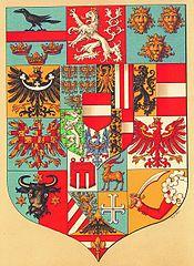 Dalmatinski i istarski grb na grbu austrijskog dijela Austro-Ugarske (1867.-1918.)