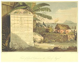 Earl Cathcart - The tombstone of Colonel Charles Cathcart, ambassador to China, who died on his ship and was buried at a Dutch outpost in the Sunda Strait.