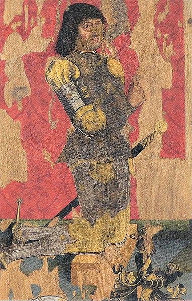 File:B Zeitblom - Georg von Ehingen - Tafel des Kilchberger Altars n1490.jpg
