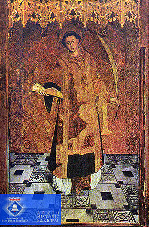 Lluís Dalmau - St. Baudilus, now at the Church of St. Baldiri, in Sant Boi de Llobregat, near Barcelona