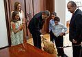 Barack Obama meets Felipe Calderon's family 4-16-09.JPG
