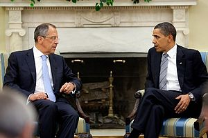 Sergey Lavrov - Lavrov Meets with President Barack Obama in the Oval Office of the White House, 7 May 2009