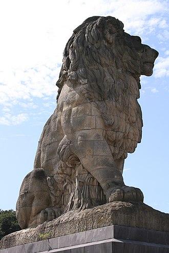 Antoine-Félix Bouré - The monumental lion atop the Gileppe Dam