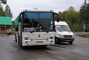 Neftekamsk Automotive Plant -  NefAZ (produced in 2004-2013) on long-distance routes of the Republic of Bashkortostan