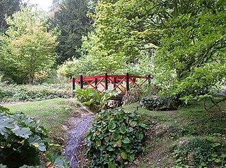 Batsford Arboretum - Japanese bridge over rill at Batsford Arboretum