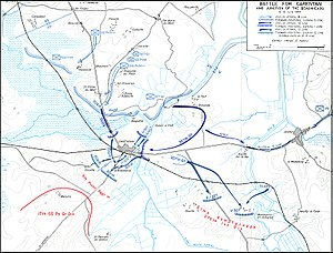 Battle of Carentan - Map depicting the Battle for Carentan