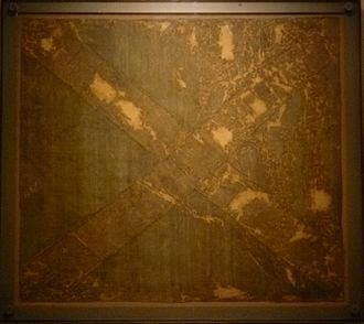 Battle of Dunbar (1650) - Scottish Saltire reputedly carried in the battle