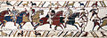 Bayeux Tapestry scene51 Battle of Hastings Norman knights and archers.jpg