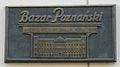 Bazar Hotel Poznan plaque.JPG