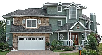 Asphalt shingle - Asphalt shingles on a home in Avalon, New Jersey