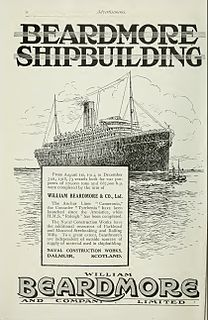 William Beardmore and Company Scottish engineering and shipbuilding company
