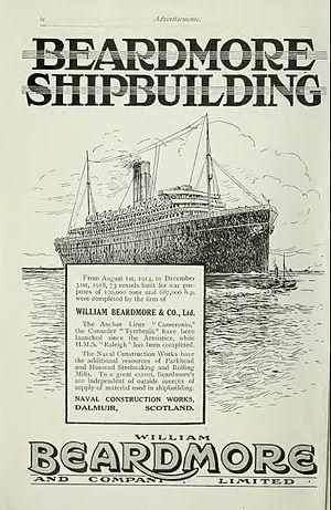 William Beardmore and Company - Image: Beardmore advertisement Brasseys 1923