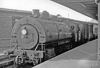 2-6-2 - A Type 57 at Brussels South, 1957.