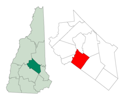 Location in Belknap County