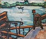 Bemberg Fondation Toulouse - Vue de la Seine, l'embarcadère ou Paysage 1942 - Albert Marquet Inv.2072 31.5x37.3.jpg