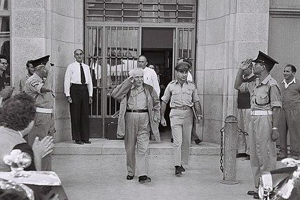 Ben-Gurion - military secretary 1955