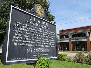 Benjamin Franklin White - A historic marker in the town square in Hamilton, Georgia commemorates the life and legacy of B. F. White.