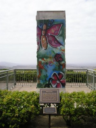 Ronald Reagan Presidential Library - A large piece of the Berlin Wall located on the library grounds