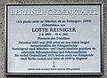 Berliner Gedenktafel Knesebeckstr 11 (Charl) Lotte Reiniger.jpg