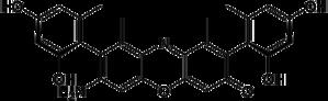 Orcein - Image: Beta aminoorcein