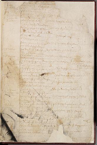 Bewnans Ke - Opening page of Bewnans Ke (National Library of Wales, MS 23849D, folio 1r)