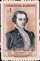 Bicentenario Pedro Vicente Maldonado sello postal Riobamba.png