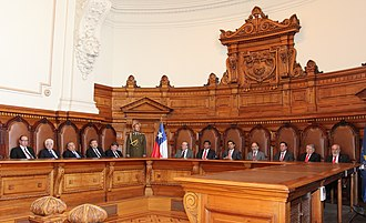 Judiciary of Chile - Plenary courtroom of the Supreme Court.