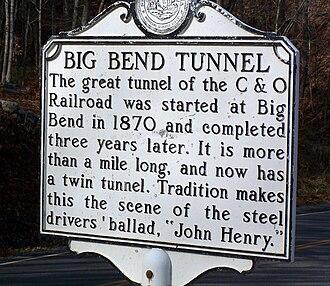 John Henry (folklore) - Image: Big Bend Tunnel John Henry