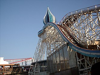 Big Dipper (Blackpool Pleasure Beach) - Image: Big Dipper (Pleasure Beach, Blackpool) 01