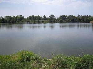 Big Sandy, Texas - Big Sandy Lake is cut by U.S. Highway 80 in Big Sandy, Texas