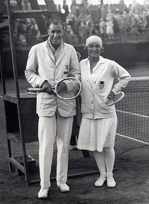 Kea Bouman - Bill Tilden and Kea Bouman at the 1927 French Championships