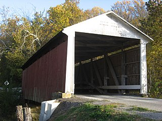 Billie Creek Covered Bridge place in Indiana listed on National Register of Historic Places