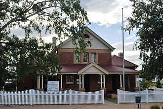 New England (New South Wales) - Bingara Court House in the town of Bingara.