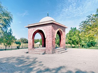 Umerkot - The birthplace of Akbar is traditionally believed to be marked by the small pavilion.